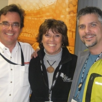 l. to r. Dean Case (Mazdaspeed Motorsports), Lyn St. James (Indy 500 driver), Garth