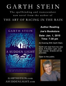 A Sudden Light event flyer - click to zoom