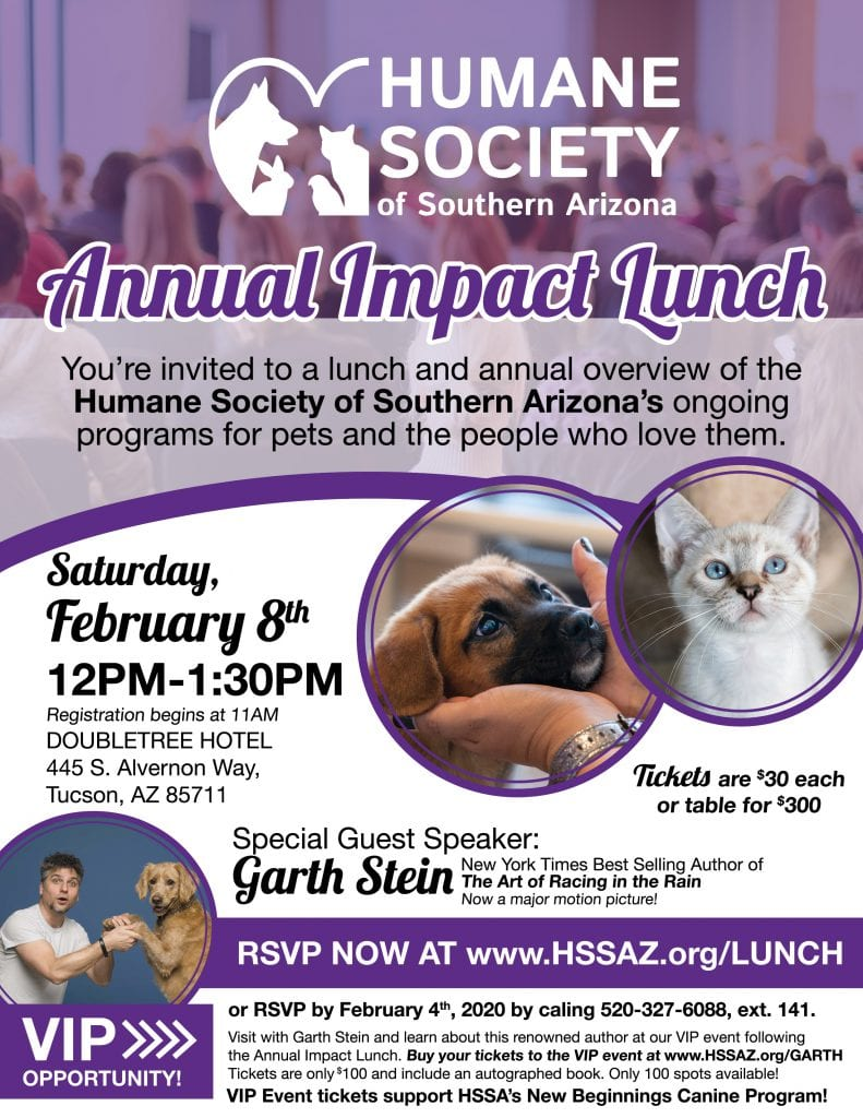 Tucson, AZ @ Humane Society of Southern Arizona Annual Impact Lunch