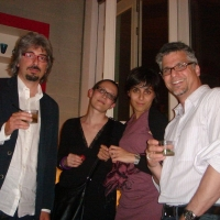 With Strega award nominee Ugo Barbara and friends